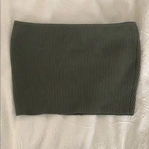 Pacsun navy green tube top